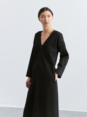 Long-Sleeved Foulard Dress