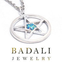 Picture of the winter lady's ice opal pentacle