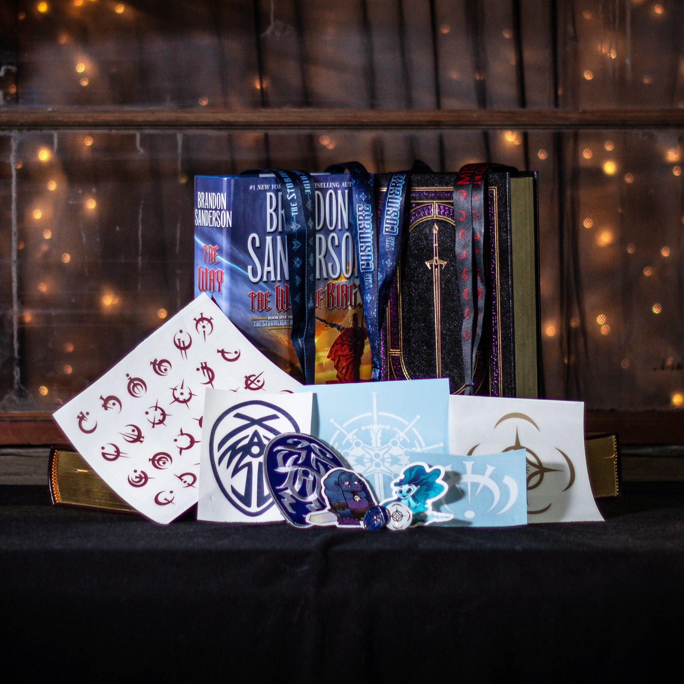 Picture of March Cosmere Giveaway Prizes