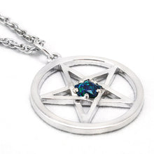 Load image into Gallery viewer, Dresden Files Pentacle Pendant with Demonreach Opal