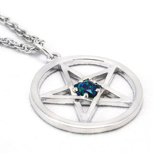 Dresden Files Pentacle Pendant with Demonreach Opal