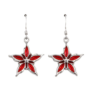 Two-tone Red Nalthis Symbol Earrings