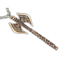 Load image into Gallery viewer, KHUZDUL Dwarven Battle Axe - Badali Jewelry - Necklace