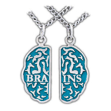 Load image into Gallery viewer, Brains Friendship Necklaces - Enameled Silver - Badali Jewelry - Necklace