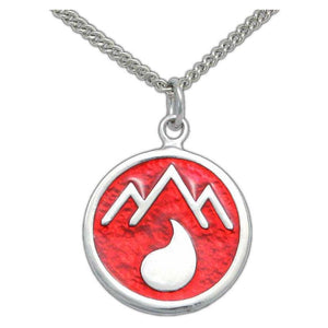 Adran Flag Pendant - Silver - Badali Jewelry - Necklace