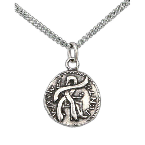 Anduriel's Blackened Denarius Necklace - Badali Jewelry - Necklace