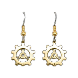 Auri's Brazen Gear Earrings - Badali Jewelry - Earrings
