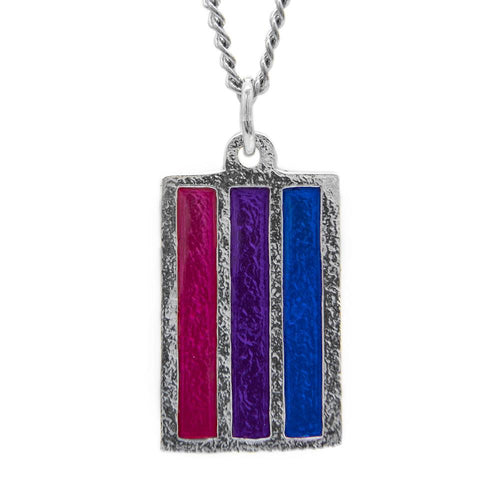 Bisexual PRIDE Flag Necklace - Badali Jewelry - Necklace