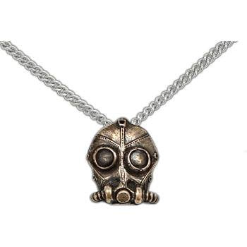 Blight Gas Mask Pendant - Badali Jewelry - Necklace