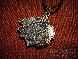 Born Big Pendant - Bronze/Brass - Badali Jewelry - Necklace