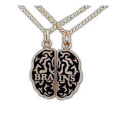 Load image into Gallery viewer, Brains Friendship Necklaces - Bronze - Badali Jewelry - Necklace