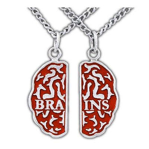 Brains Friendship Necklaces - Enameled Silver - Badali Jewelry - Necklace