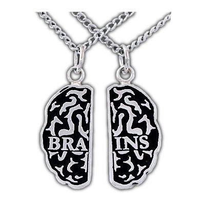 Brains Friendship Necklaces - Silver - Badali Jewelry - Necklace