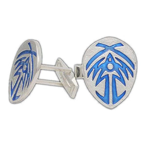 Bridge Four Badge Cufflinks - Enameled Silver - Badali Jewelry - Cufflinks