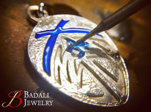 Load image into Gallery viewer, Bridge Four Badge - Enameled Silver - Badali Jewelry - Necklace