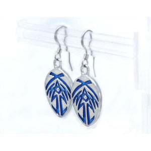 Bridge Four Earrings - Enameled Silver - Badali Jewelry - Earrings