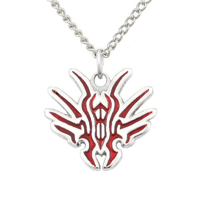 Chach Glyph Pendant - Enameled Silver - Badali Jewelry - Necklace
