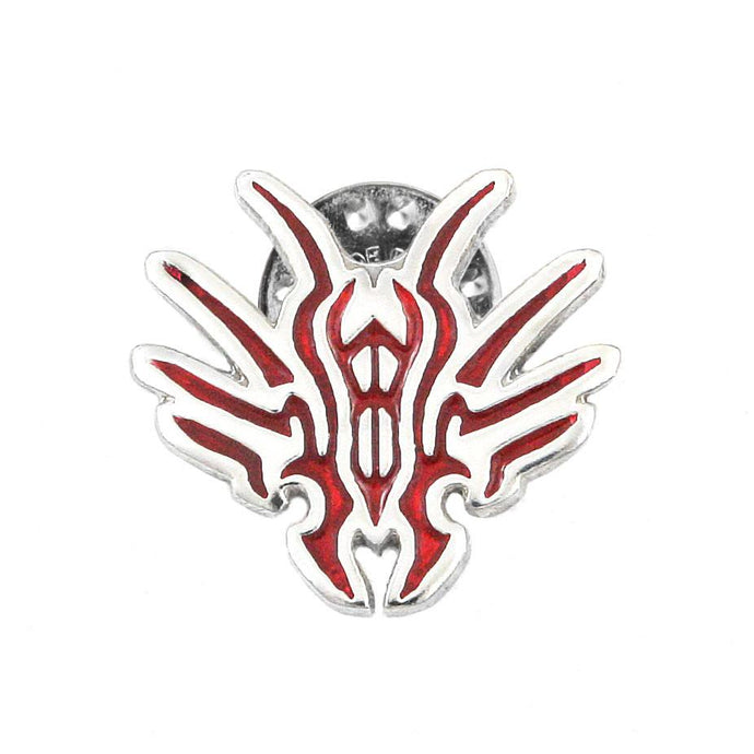 Chach Glyph Pin - Enameled Silver - Badali Jewelry - Pin