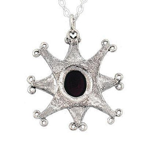 Clearance Gemstone Compass Necklace - Badali Jewelry - Necklace