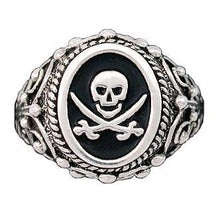 Load image into Gallery viewer, Clearance Pirate Signet Ring - ONLY 7 left - Badali Jewelry - Ring