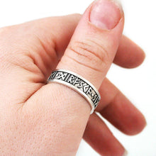 Load image into Gallery viewer, Courage Boldness Victory Furthark Rune Ring - Badali Jewelry - Ring