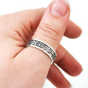 Courage Boldness Victory Furthark Rune Ring - Badali Jewelry - Ring