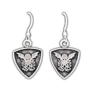 Cthulhu Crest Earrings - Badali Jewelry - Earrings