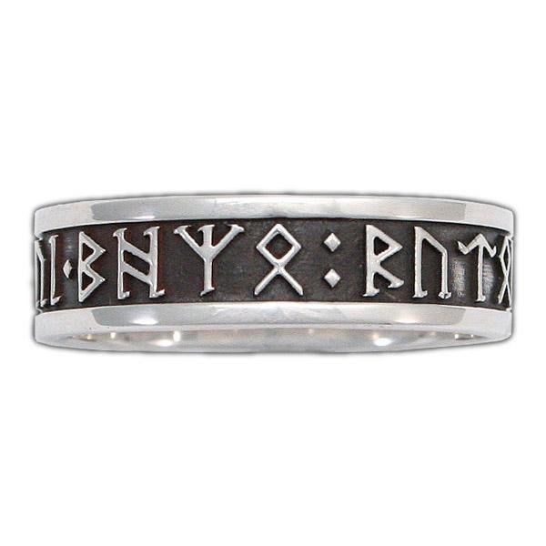 Custom CIRTH Dwarven Rune Ring - Channel Band - Badali Jewelry - Ring