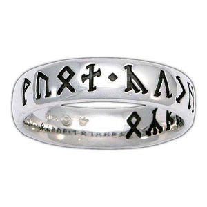 Custom CIRTH Dwarven Rune Ring - Comfort Fit - Badali Jewelry - Ring