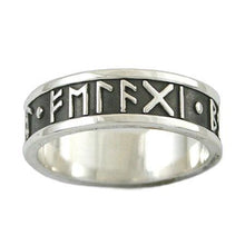 Load image into Gallery viewer, Custom Elder Futhark Rune Ring - Channel Band - Badali Jewelry - Ring