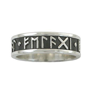 Custom Elder Futhark Rune Ring - Channel Band - Badali Jewelry - Ring
