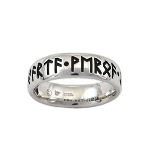 Custom Elder Futhark Rune Ring - Comfort Fit - Badali Jewelry - Ring