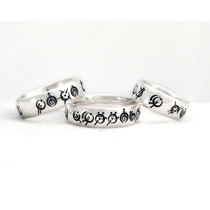 Custom Steel Alphabet Ring - Badali Jewelry - Ring
