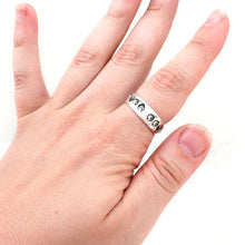 Load image into Gallery viewer, Custom Steel Alphabet Ring - Badali Jewelry - Ring