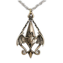 Load image into Gallery viewer, Dracula Bat Pendant - Bronze - Badali Jewelry - Necklace