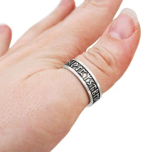 Elder Furthark Alphabet Rune Ring - Badali Jewelry - Ring