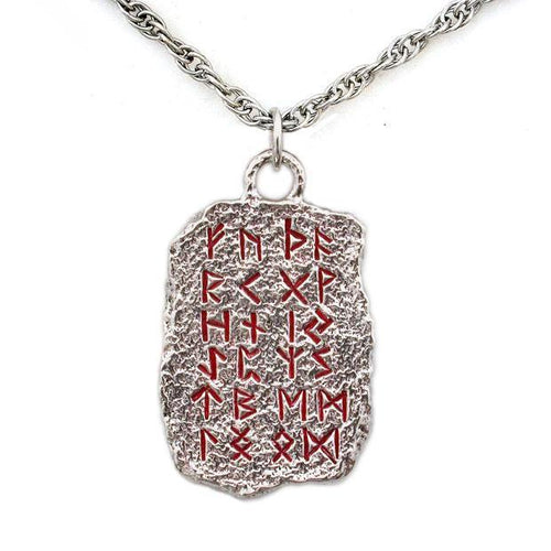 Elder Futhark Rune Alphabet Necklace - Badali Jewelry - Necklace