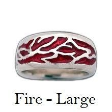 Load image into Gallery viewer, Elemental Bands - CUSTOM ENAMEL OPTIONS - Badali Jewelry - Ring
