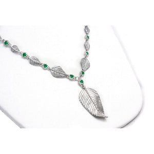 Elven Realms 9 Leaf Necklace: RIVENDELL™, MIRKWOOD™, LOTHLORIEN™ - Badali Jewelry - Necklace