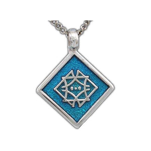 Enameled Aon Aha Pendant - Badali Jewelry - Necklace
