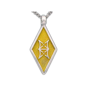 Enameled Aon Ashe Pendant - Badali Jewelry - Necklace