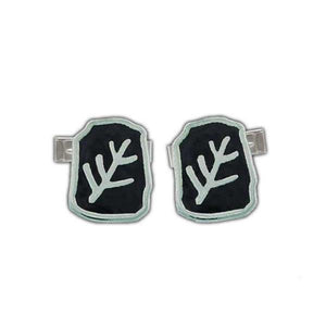 Enameled Elder Sign Cufflinks - Badali Jewelry - Cufflinks