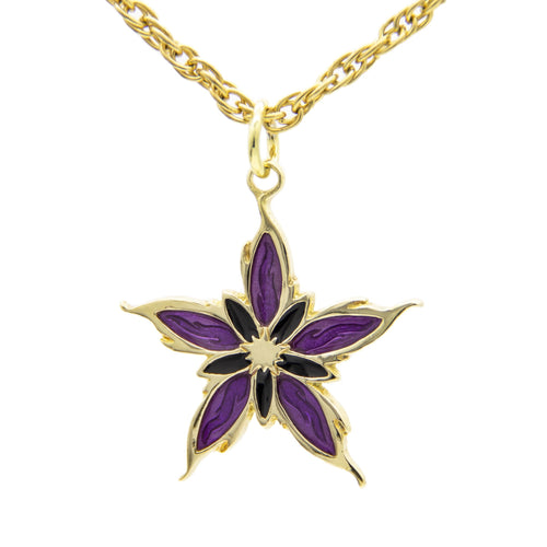 Enameled Nalthis Pendant - Brass - Badali Jewelry - Necklace