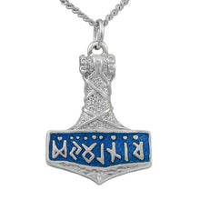Load image into Gallery viewer, Enameled Thor's Hammer Necklace - Badali Jewelry - Necklace