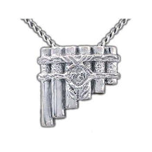 Load image into Gallery viewer, Eolian Talent Pipes Necklace, Back Hanging - Badali Jewelry - Necklace