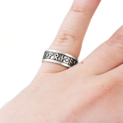 Faith - Hope - Love Furthark Rune Ring - Badali Jewelry - Ring