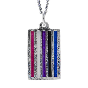 Genderfluid PRIDE Flag Necklace - Badali Jewelry - Necklace