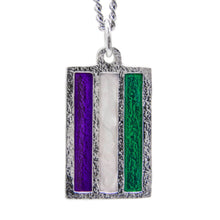Load image into Gallery viewer, Genderqueer PRIDE Flag Necklace - Badali Jewelry - Necklace