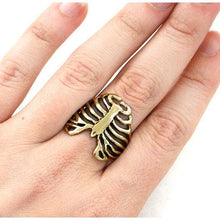 Load image into Gallery viewer, Gold Anatomical Rib Cage Ring - Badali Jewelry - Ring