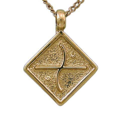 Gold Aon Edo Pendant - Badali Jewelry - Necklace